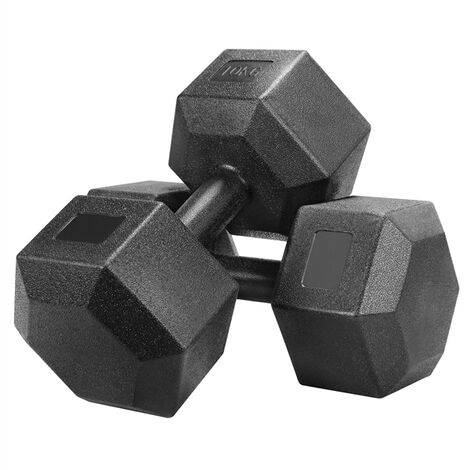 10kg x2 Portable Hand Weights Set, 2 x 10kg Dumbbells Sporting Training Hand Weights,Black