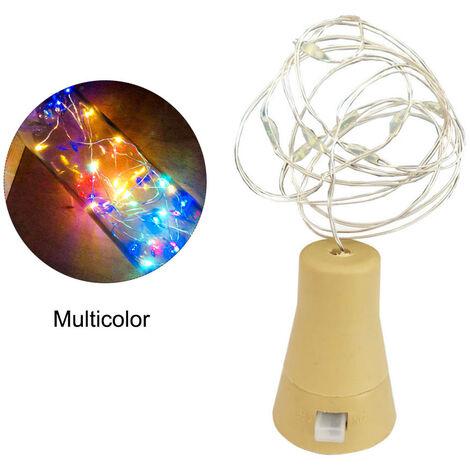 10LEDs Solar Wine Bottle Light Waterproof Copper Wire Decorative Lamp String