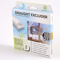 10m D-profile Grey Colour Draught Excluder - Rubber EPDM Weather Bar in Strip