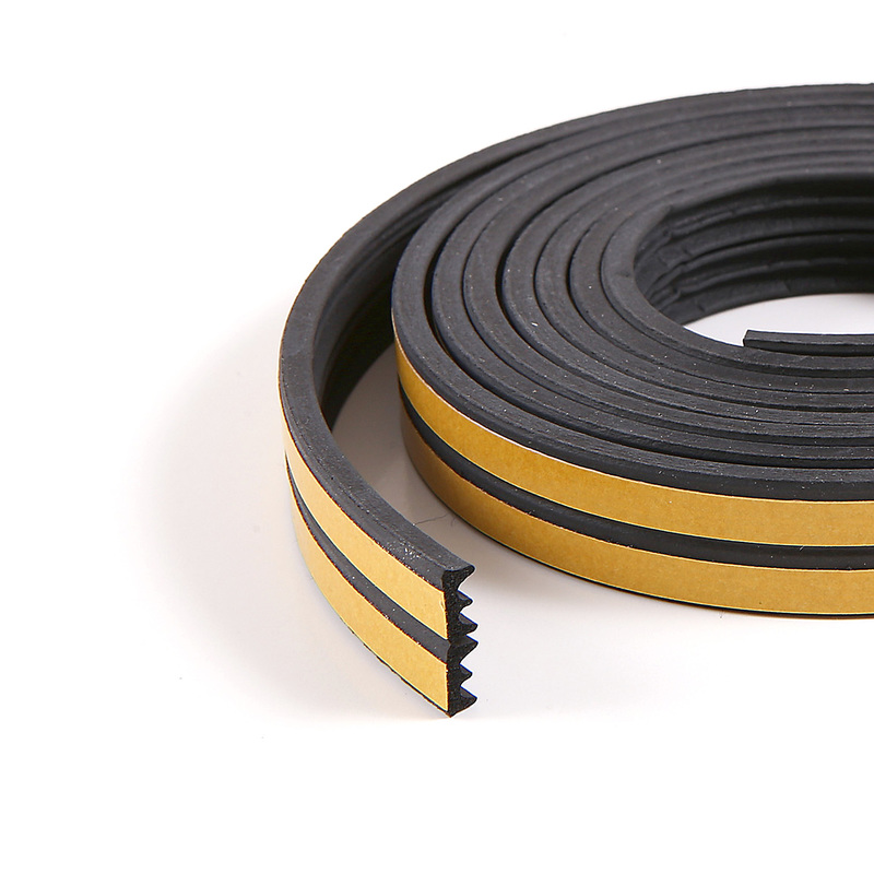 10m E-profile Black Colour Draught Excluder - Rubber EPDM Weather Bar in  Strip