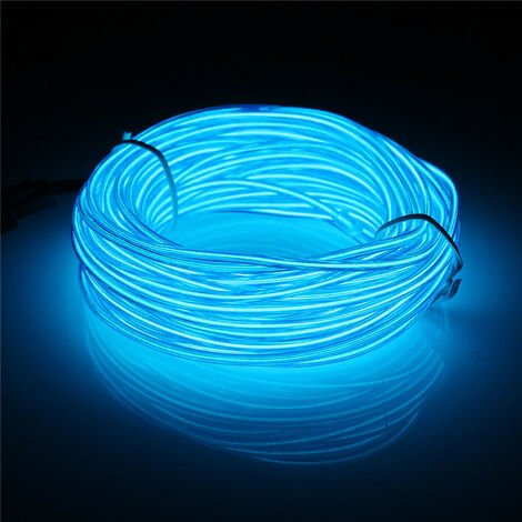 """main image of """"10M El Flexible LED Soft Tube Wire Neon Glow Car Rope Strip Light Christmas Decor DC 12V-Fluorescence Green"""""""