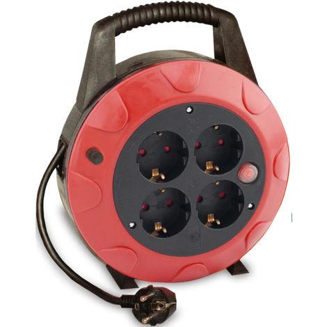 10m. extensible eléctrico 4 tomas TTL 13A 3x1mm. IP20 (GSC 0500121)