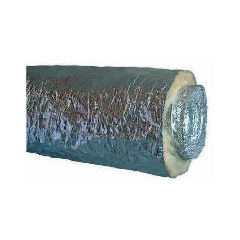 10m Gaine souple alu isolée insonorisée ép. 25 mm A1/M0
