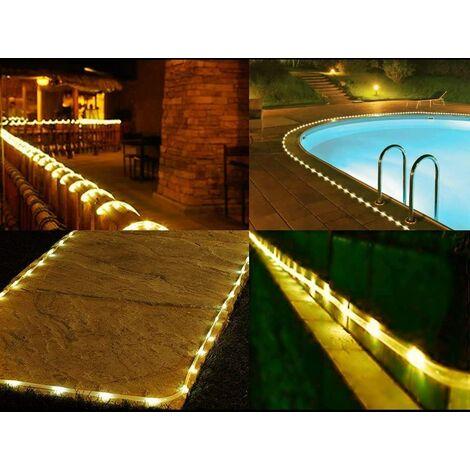 10M LED Lichterschlauch Lichtschlauch Lichterkette für Außen und Innen mit 100 LEDs