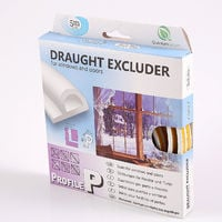 10m P-profile White Colour Draught Excluder - Rubber EPDM Weather Bar in Strip