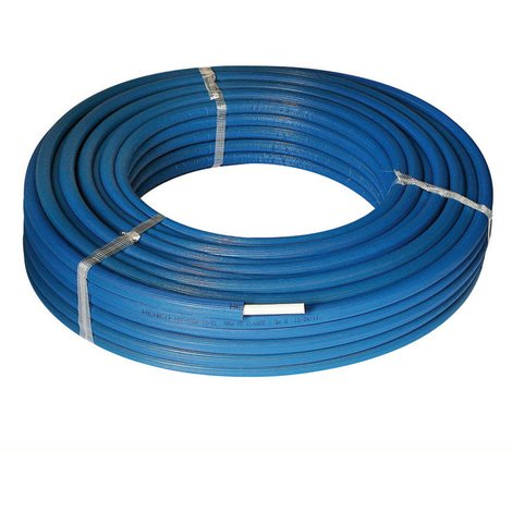 10M Tube multicouche isolé bleu - Ø26x3,0 - Alu 0,28mm - Henco