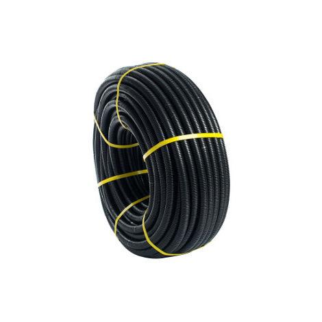 10m. Tubo corrugado Flexiplast 32mm. Negro