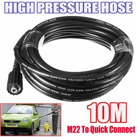 10M Tuyau Nettoyeur Haute Pression Adaptateur Pr Karcher K 9mm End to M22 Male