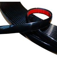 10mm 4.5m Bande baguette adhésive couleur noir