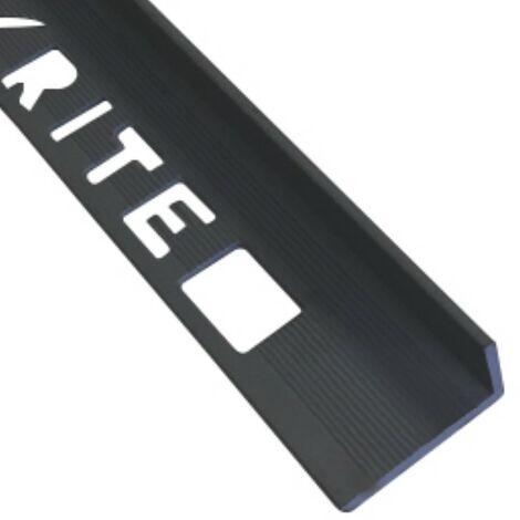 10mm L-Shape Pro Tile Trim Black - PVC
