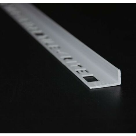 10mm L-Shape Pro Tile Trim White - PVC