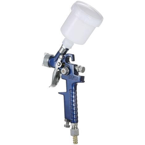 1.0mm Mini HVLP Air Pulv¨¦risateur Airbrush Kit Retouches peinture Spraying outil-Feed Gravity Air Brush Set peinture voiture automatique pour Spot R¨¦paration, Buse de 0.8 MM