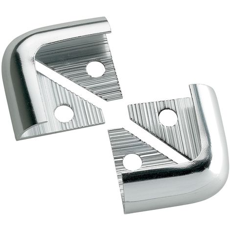 10mm Quadrant Economy Corners Silver Pack Of 2