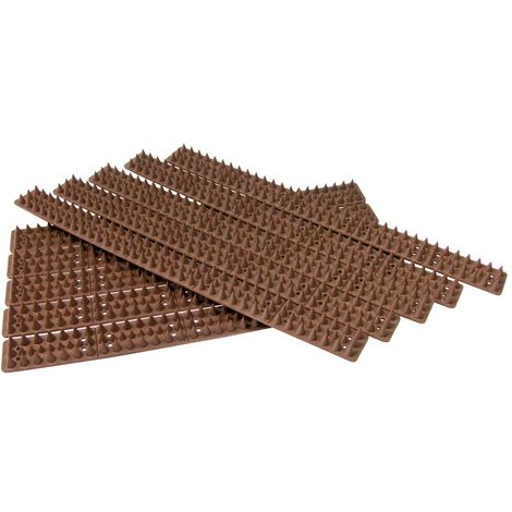 10pc Security Spikes - Brown