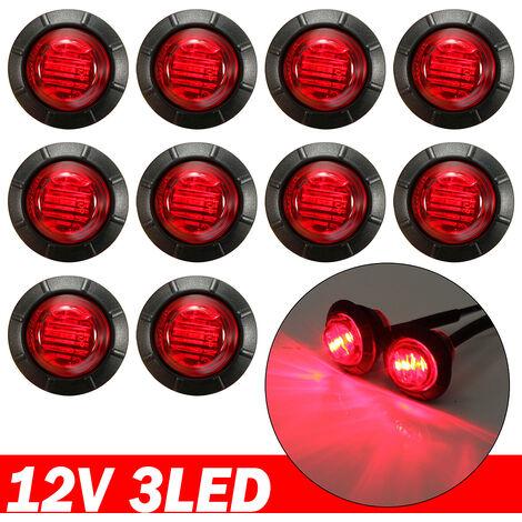 "main image of ""10pcs 12V LED Car External Lights Auto Car Bus Truck Side Marker Light Indicator Rear Tail Lamp Signal Trailer Red"""