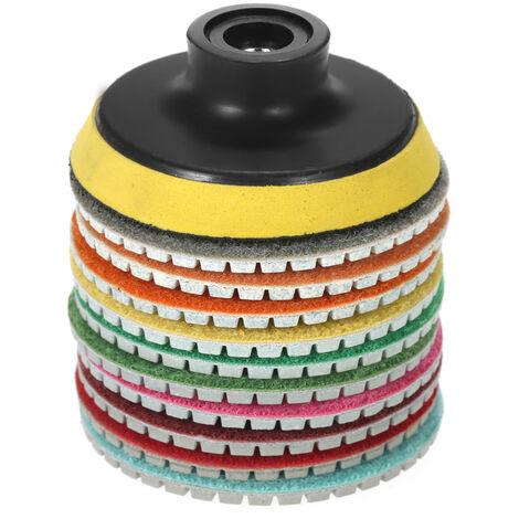 "10pcs 3 ""discos de pulido mojado disco de molienda + 1pc almohadilla de respaldo M14"