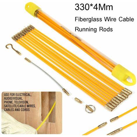 10PCS 33cm Diamètre 4mm Extracteur Tra?nage Fibre de Verre Cable Tire-fil Rodder électricien