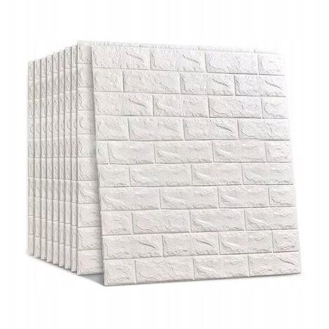 10Pcs 3D Étanche Brique Mur Autocollant Autocollant Papier Peint Autocollant 70x77cm