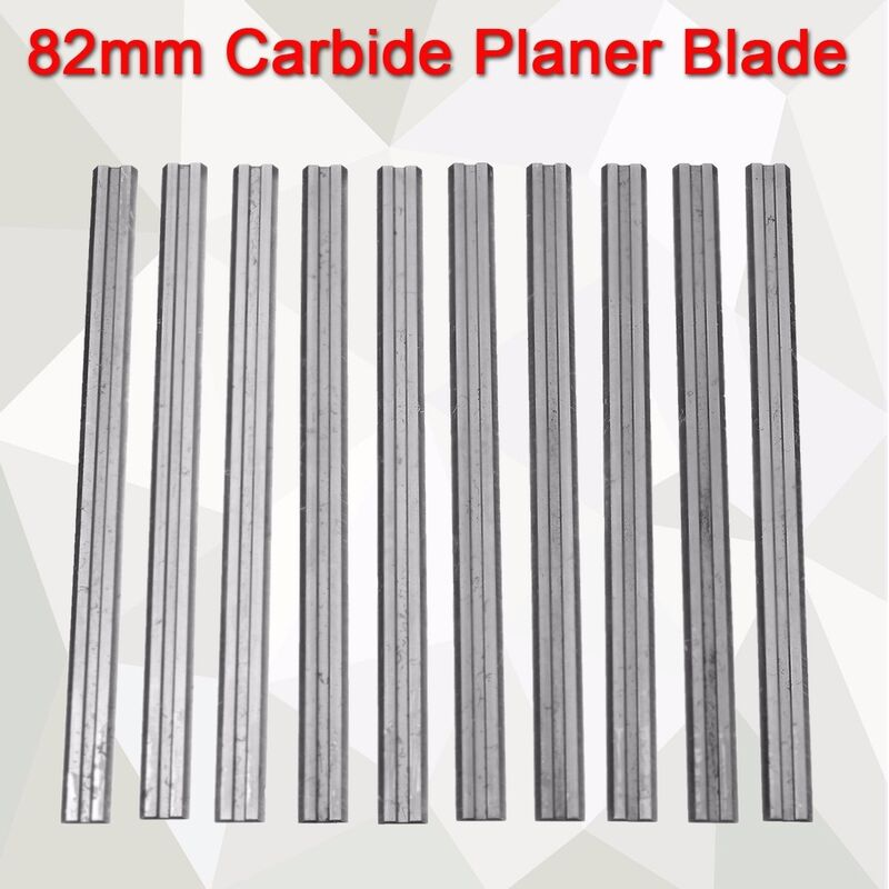 Image of 10Pcs 82mm Reversible Carbide Planer Blade For Makita- -B & D-Hitachi Hasaki - KINGSO
