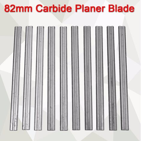 10Pcs 82mm Reversible Carbide Planer Blade For Makita- -B & D-Hitachi Hasaki