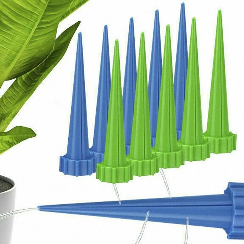 Image of 10pcs Automatic Watering Irrigation Spike Plant Drip Home Garden Sprinkler