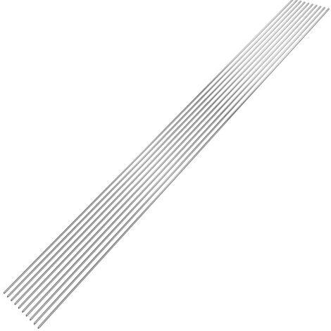 10PCS, baja temperatura de soldadura de aluminio alambre tubular 2 mm * 500 mm de Al-Mg soldadura Vara No hay necesidad de soldadura en polvo