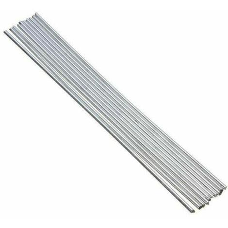 10pcs de aluminio Varillas para soldar nucleo solido no Flujo Requerido bajo punto de fusion Resistencia a la corrosion, 250 x 3,2 mm