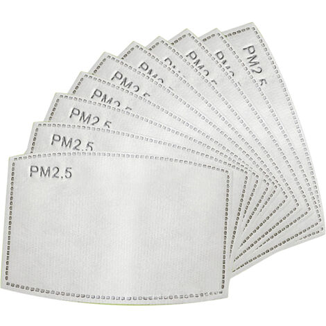 10Pcs Jetable Masque Bouche Remplacer Les Plaquettes Interieures Respirante Anti-Poussiere Masque Visage Couverture (Non Medical)