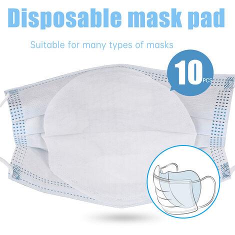 10Pcs Jetable Visage Masques Filtre Pad 3 Couches Filtre Respirante Filtre De Protection Bouche Masque Pad De Rechange