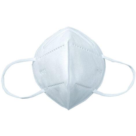 10Pcs Kn95 Masque Facial Jetable Non Medical Bouche Couverture 5 Couche 95% Filtration Anti Particules Anti-Poussiere Respirante De Protection Respiratoire Masque Quotidien Exterieur