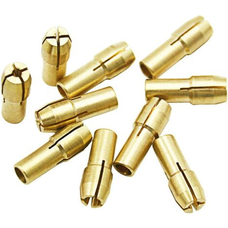 10Pcs Mandrins en laiton Perceuse Pinces 0.5-3.2mm Accessoires pour Dremel outils rotatifs Tige 4.3mm