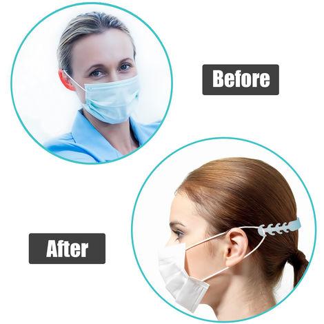 Lot de 10 crochets de fixation pour masque Convient pour les enfants et les adultes Pour oreilles Ajustables