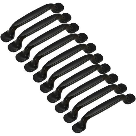 10pcs Poignée de Porte Cuisine Armoire Placard Tiroir Chambre Meubles Tirer Entraxe 128mm, Aluminium