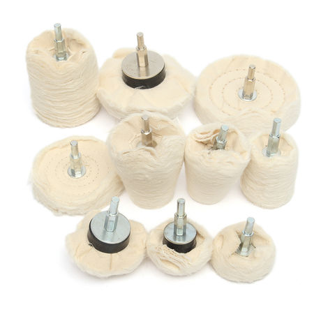 10Pcs Polishing Wheel Fabric For Electric Drill Grinder 34-105Mm