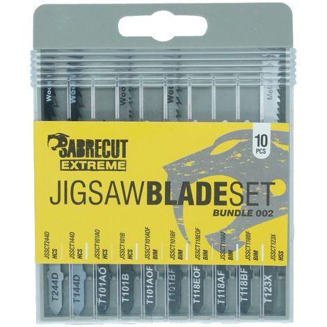 "main image of ""10pcs SabreCut Jigsaw Blade Set - JSSCK002"""