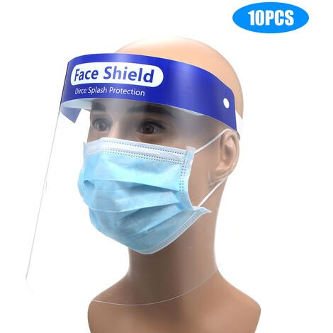 10Pcs/Set Full Face Cover Droplets-proof Fog-proof Dust-proof Face Shield Protective Cover