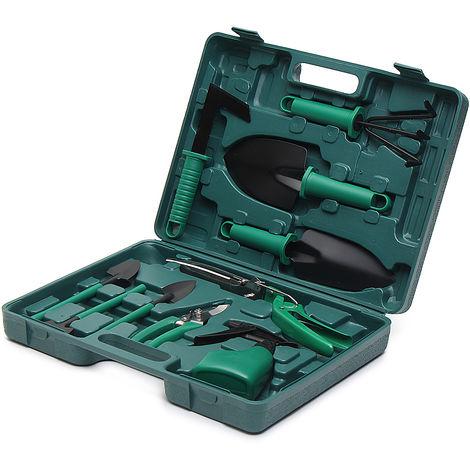 10PCS Set of Gardening Tools Pruner + Storage Box