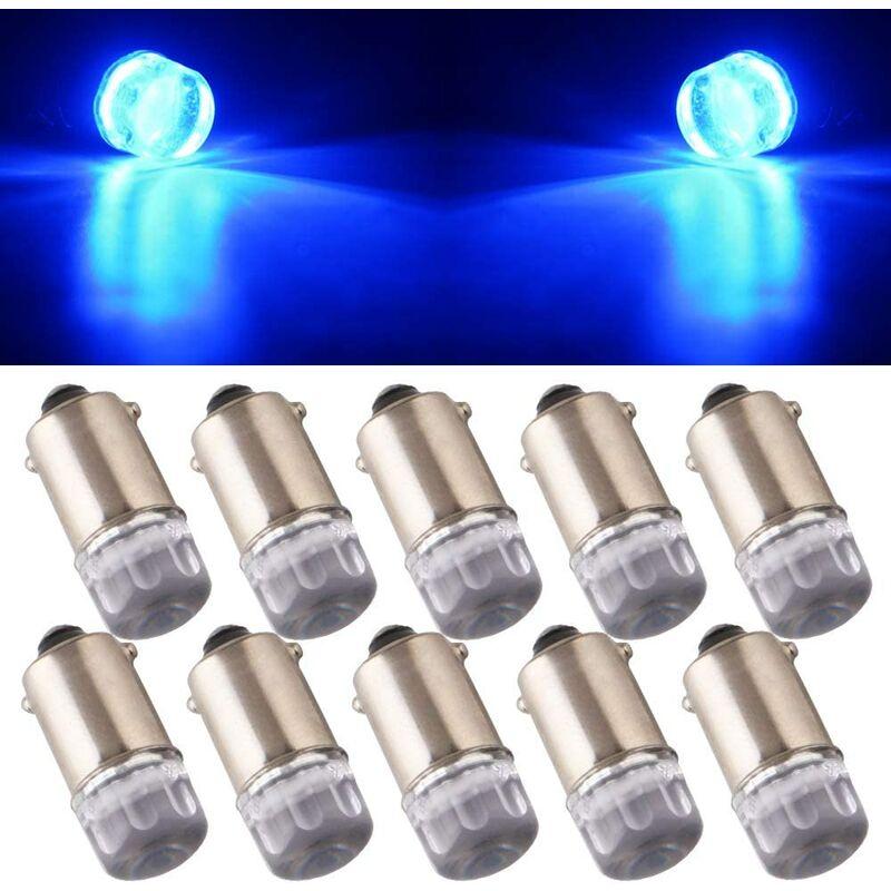 Zqyrlar - 10Pcs T11 T4W BA9S H6W 1895 3030 1W 1SMD 1-LED RV Car Tail Side Marker Indicateur Intérieur Angle Inverse lumière LED Ampoule 12V DC Bleu