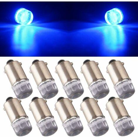 """main image of """"10Pcs T11 T4W BA9S H6W 1895 3030 1W 1SMD 1-LED RV Car Tail Side Marker Indicateur Intérieur Angle Inverse lumière LED Ampoule 12V DC Bleu"""""""