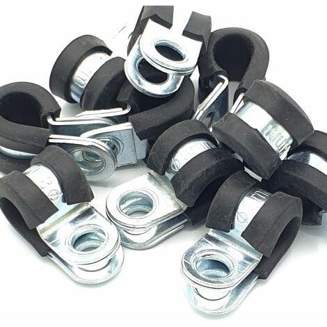 10pcs x 8mm câble p-clips revêtus de caoutchouc tuyau en acier p colliers