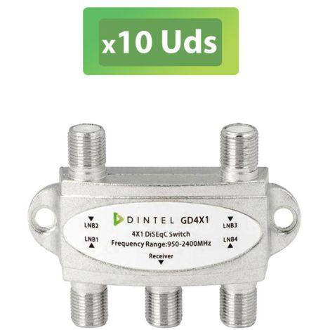 10U Conmutador Disecq 4x1 2.0 Interior Dintel