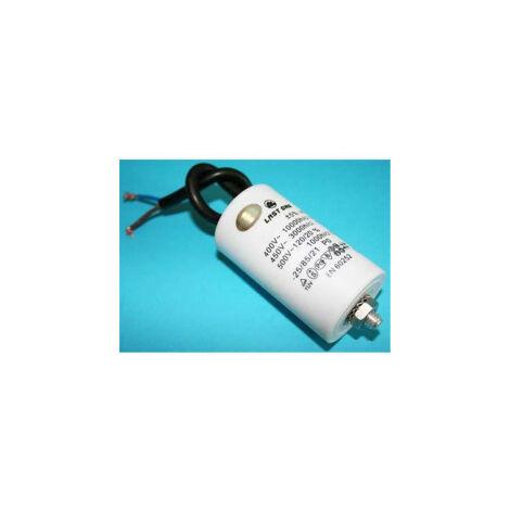 10uF 450Vac Condensador Trabajo Motor Cables + Torno M8
