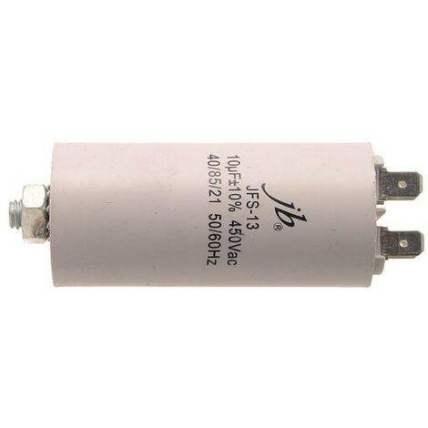 10uF 450Vac Condensador Trabajo Motor FASTON Y M8