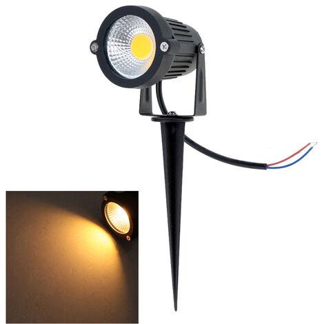 """main image of """"10W 85-265V AC IP65 Foco de cesped LED de aluminio negro"""""""