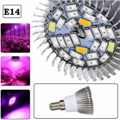 10W LED Plant Grow Light, Luniquz 28LED E14 Grow Light Bulbs Full Spectrum for Greenhouse, Bonsai and Hydroponic Garden