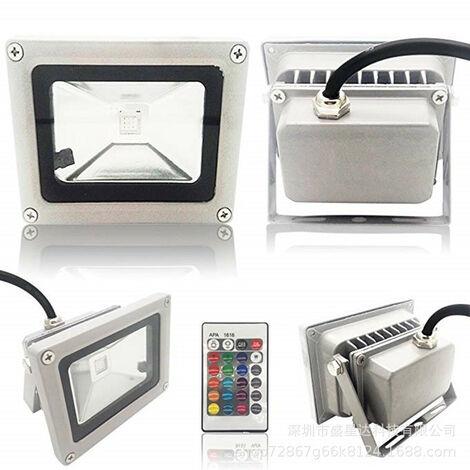 10W LED Projecteur Imperméable IP65 220V Spot à LED Lumière chaude Extérieur Lumière de Sécurité pour Jardin Garage Patio Cour [Classe Énergétique A+ ]