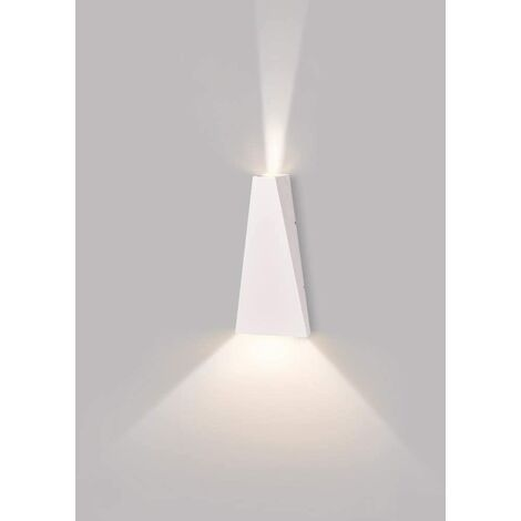 10W LED Wall Lamp Modern Wall Light Up Down Wall Sconce for Living Room Bedroom Decoration (White, Warm White)