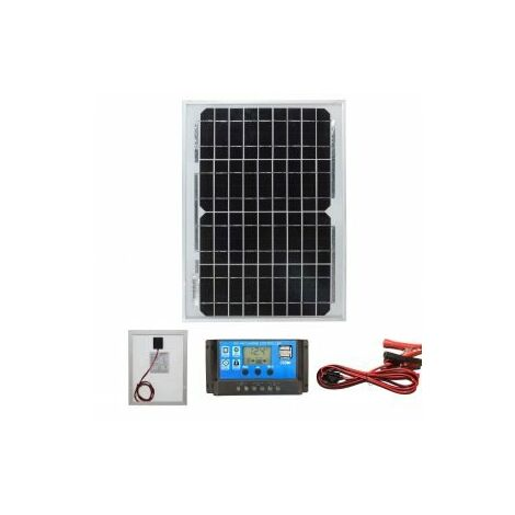 10w Mono-Crystalline Solar Panel PV Photo-voltaic with charging kit