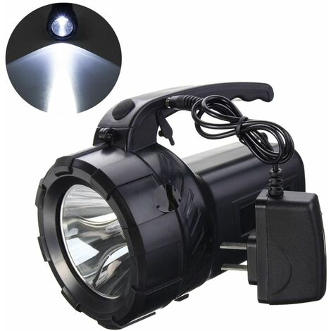 10w Rechargeable LED Flashlight Powerful Torch Battery and Charger for Camping Hiking Emergency