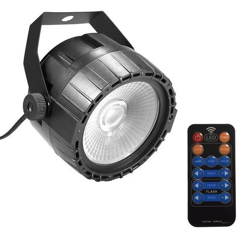 10W RGB UV COB LED Par Light, control remoto inal¨¢mbrico